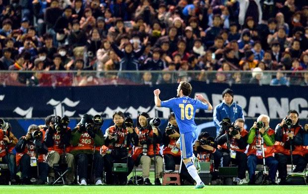 Juan Mata comemora gol do Chelsea Mundial (Foto: AFP)