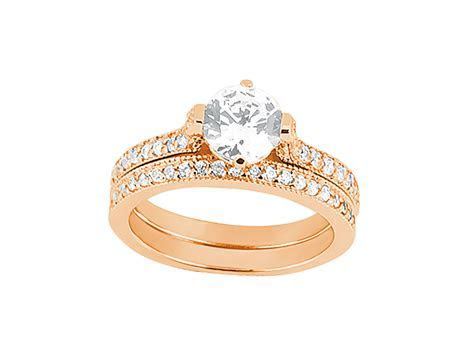 Natural 1.00Ct Round Cut Diamond Engagement Ring Wedding