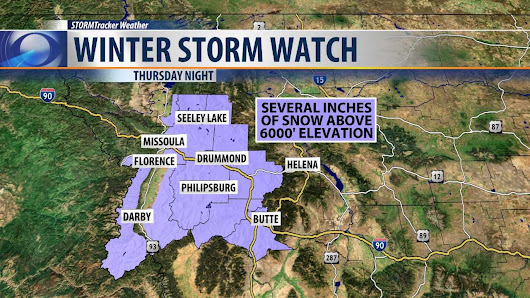 First Winter Storm Watch of the season issued for Montana