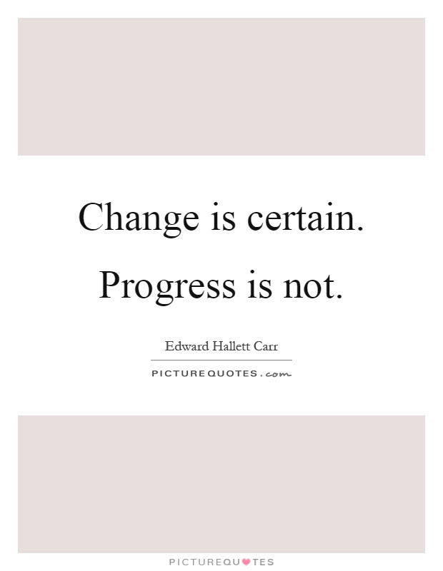 Change Is Certain Progress Is Not Picture Quotes