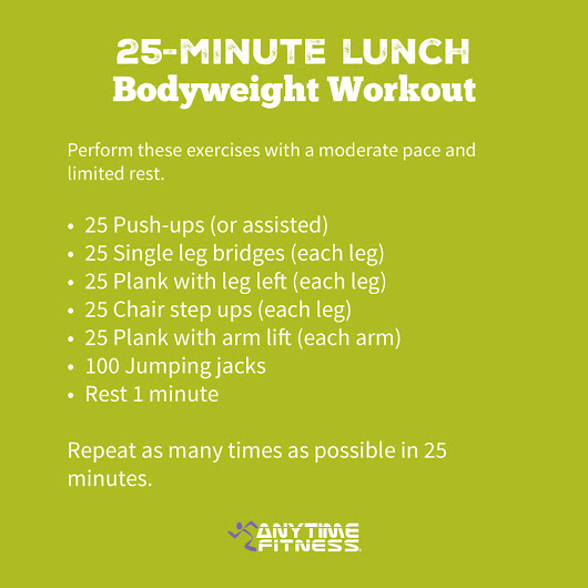 25-Minute Lunch Bodyweight Workout