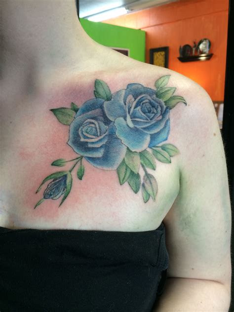 chest roses tattoos rose