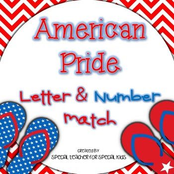July Fun!  Letter and Number Match