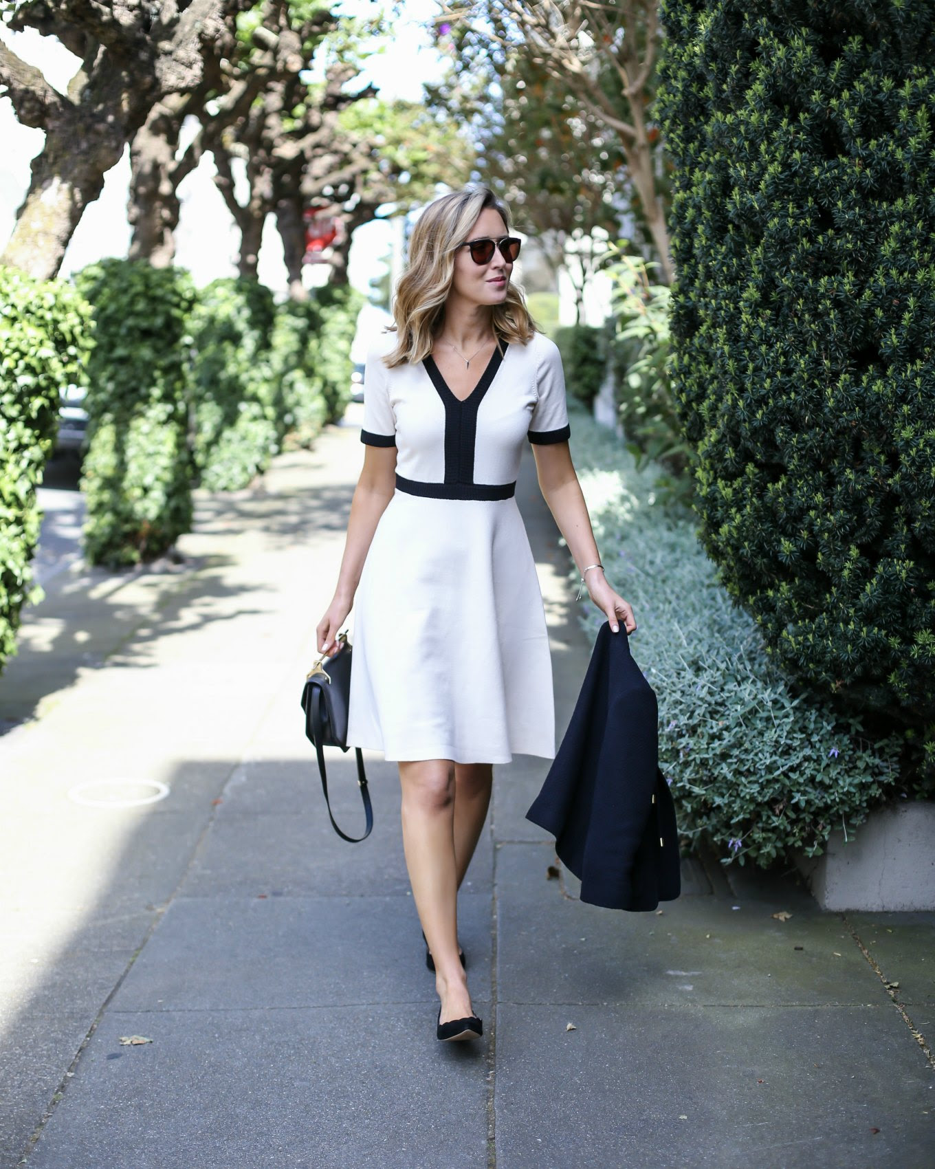 boden-knit-flare-dress-black-white-short-sleeve-work-wear-office-style-fashion-blog-san-francisco-sf-classic-professional0