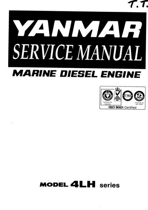 Yanmar 4LH-TE Series Marine Diesel Engine Service Repair