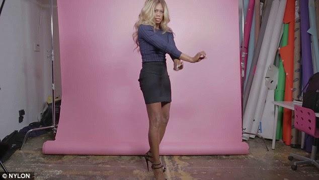 Beyonce fan: The Orange Is The New Black star showed off her long legs in a black miniskirt