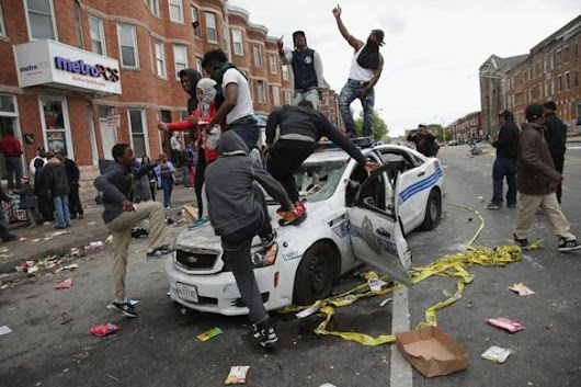 Protesters Clash with Baltimore Police