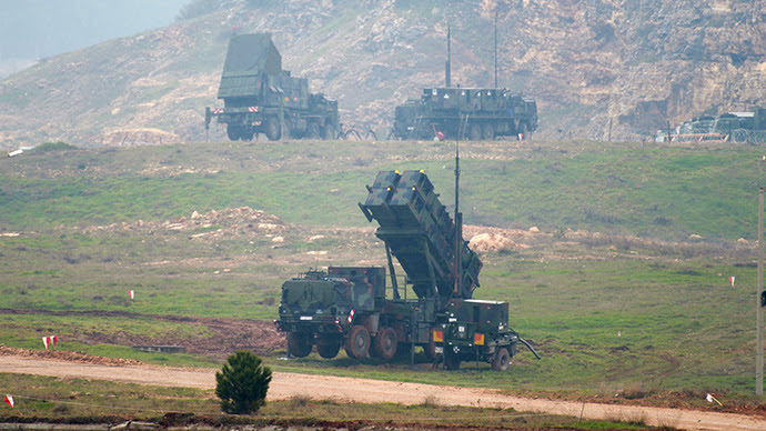 Patriot missile batteries are pictured at their positions near the city of Kahramanmaras, Turkey (Reuters / Rainer Jensen)