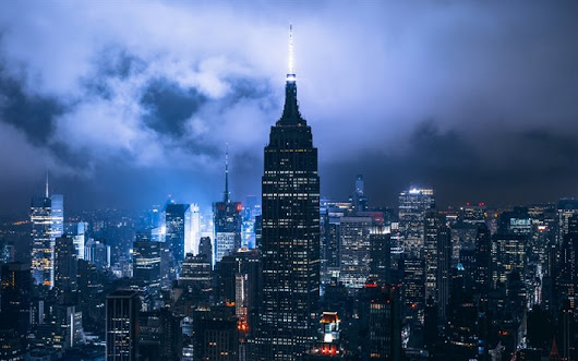 Download wallpapers New York, night, America, clouds, skyscrapers, USA for desktop free. Pictures for desktop free