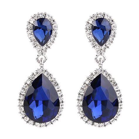 Navy Blue Earrings: Amazon.com