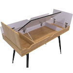 Calico Designs NOOK Office Desk with Storage Compartments Graphite / Ashwood