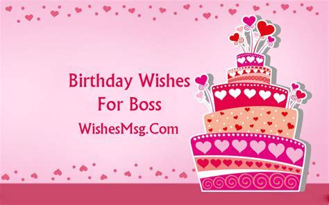 Birthday Wishes For Boss : Formal and Funny Messages