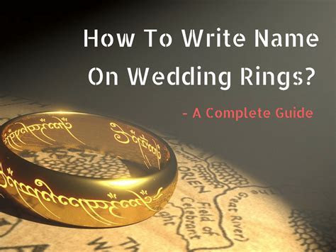 How To Write Name On Wedding Rings?   Wedding Couples Guide
