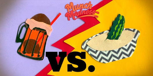 Munch Madness 2014: Round 1, Match 8: Pickles 'n Hummus vs. Orange Soda 'n Chocolate Ice Cream, by Nicole Smeltzer | Knuckle Salad