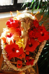 Lord Ganesha Decorated By Mrs Kiran Kumar by firoze shakir photographerno1