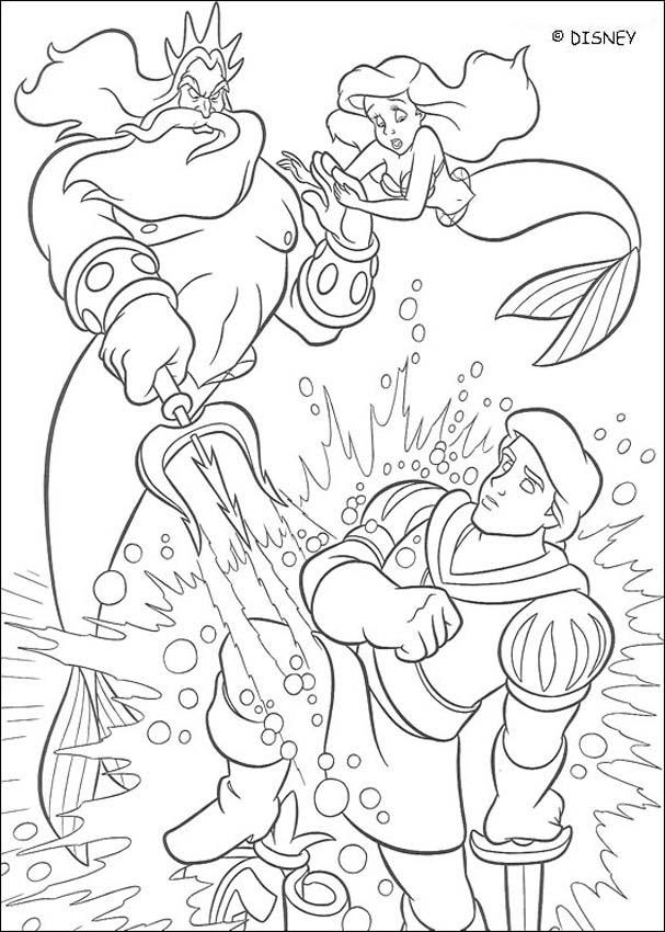 Triton is angry coloring pages - Hellokids.com
