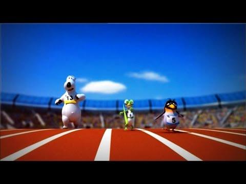 Кадр из мультфильма «Бернард : Соревнование по спортивной ходьбе»