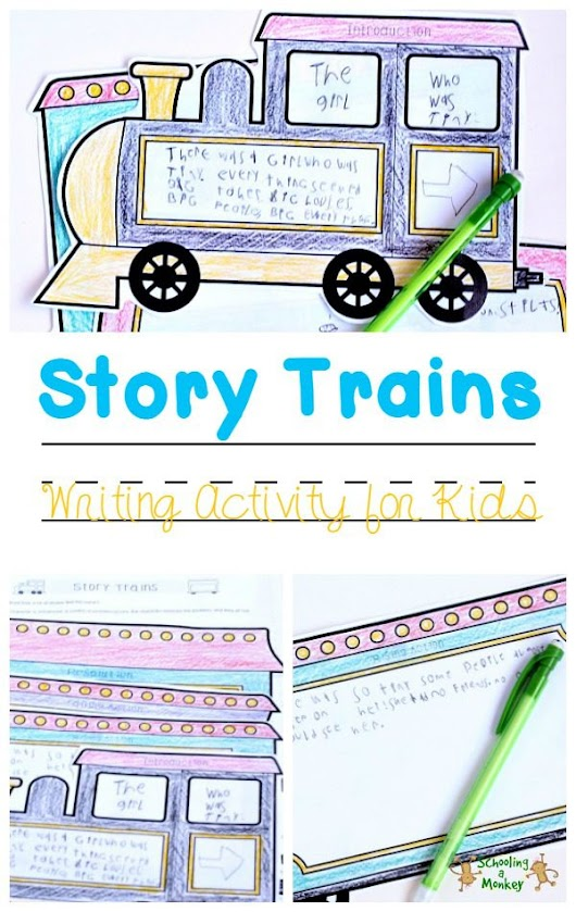 Hands-On Language Arts: Story Trains - Schooling a Monkey