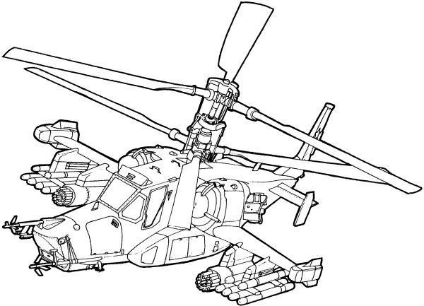 Helicopter Coloring Page Costumepartyrun