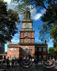 HDR photo of Independence Hall