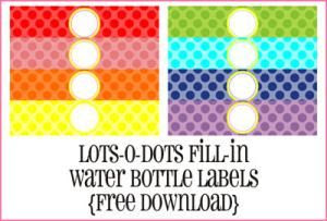 Print Your Own Water Bottle Labels with These 7 Free Sets of ...