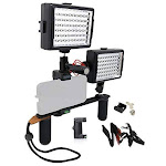 Movo PR-2 CREATOR Smartphone Video Rig with Mic and 2 LED Lights