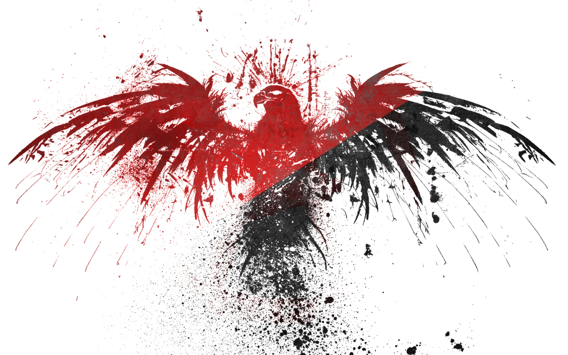 Download Wallpapers Download 1280x960 Black Red White Eagles