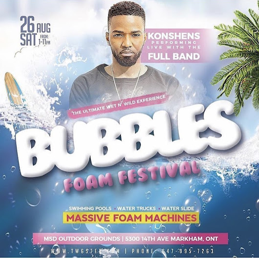 Bubbles Foam Festival Ft. Konshens LIVE | The Wet N Wild Experience