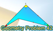 Problema 42: Ángulos en triángulos y cuadrilátero, 120.
