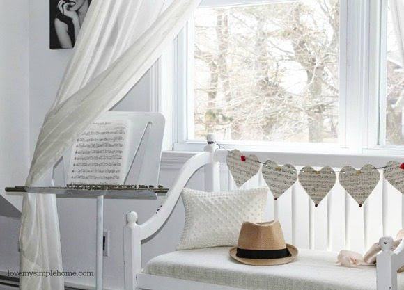 dreamy white bench