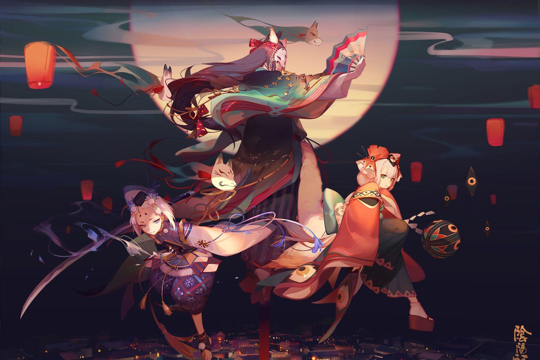 阴阳师 高清壁纸插画图集 精选p站大神们的阴阳师同人图 高清图集 新浪网