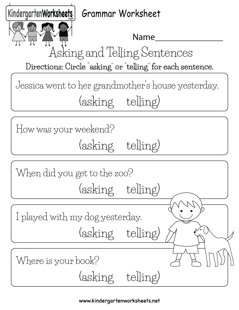 English Prehension Worksheet Free Kindergarten