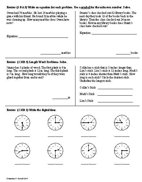 15 Best Images of Daily Math 3rd Grade Worksheets  2nd Grade Morning Math Worksheets, 2nd Grade