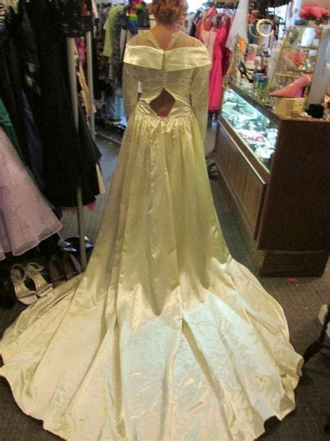 Saks Fifth Avenue Bridal Gown Late 1940's Satin Wedding