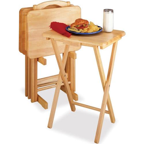 Google Express - Winsome Wood 5-Piece Rectangular TV Table Set, Natural