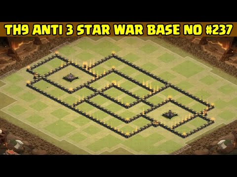 Clash of Clans | Town Hall 9 Anti 3 Star War Base | Layout