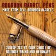 Upcycling used bourbon barrels into handmade pens