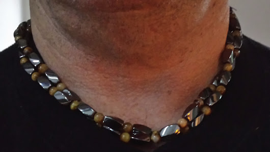 Indiana Logger gets neck pain relief using magnetic necklace