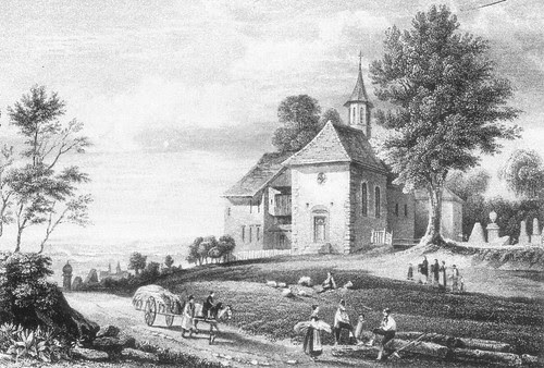 "Stahlstich ""Kapelle bei Schwaderloch"" aus Zschokke"