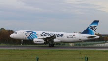 The EgyptAir Airbus A320 registered as SU-GCC is seen here on June 11, 2015.
