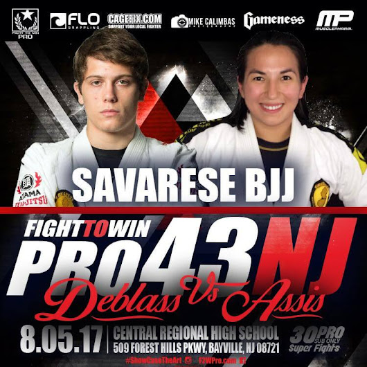 Fight To Win 43 card features Lyndhurst BJJ students - Savarese BJJ