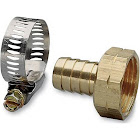 """Nelson 50451 5/8"""" Female Brass Hose Repair with Worm Gear Clamp"""