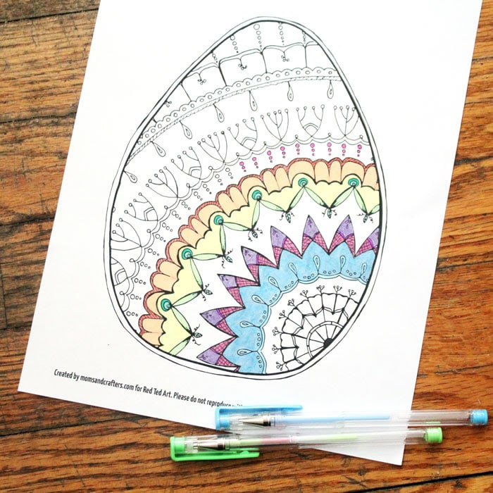 Easter Egg Coloring Pages for Adults - Red Ted Art's Blog
