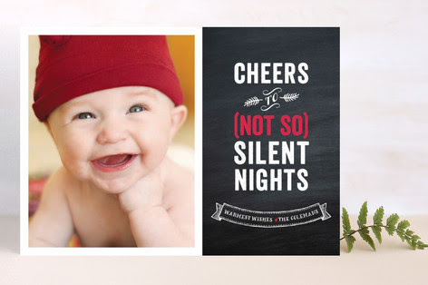 Not So Silent Nights Holiday Photo Cards