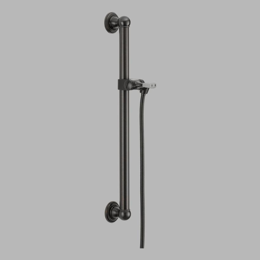Delta 56302 Rb Venetian Bronze Adjustable Grab Bar Assembly With 60