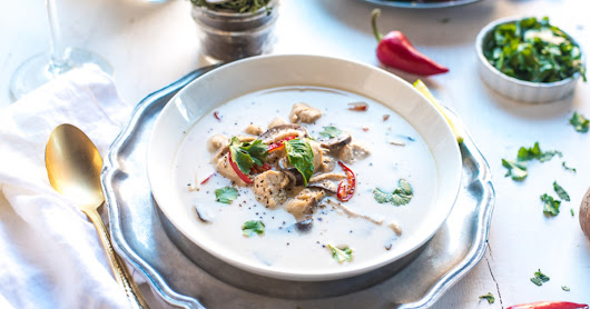 This Thai Chicken & Coconut Soup Is the Answer to Your Cold Weather Blues