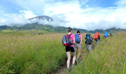 Hiking and Trekking Mount Rinjani Lombok Island Indonesia