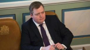 Prime Minister Sigmundur David Gunnlaugsson in parliament Monday.