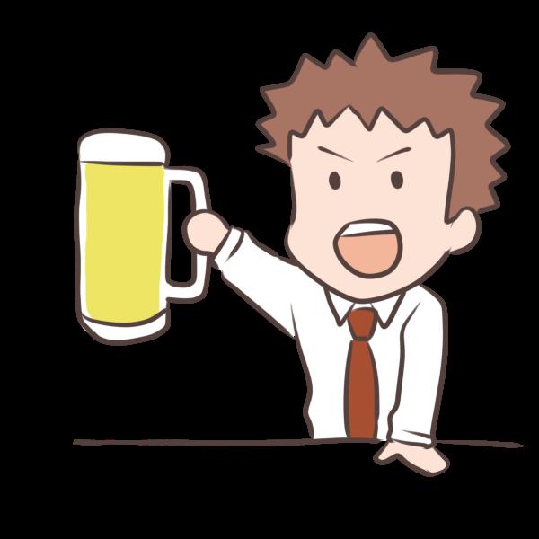 ビールで乾杯のイラスト かわいいフリー素材が無料のイラストレイン