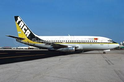 TACA International Boeing 737-2A1 YS-08C (msn 21599) MIA (Bruce Drum). Image: 102840.